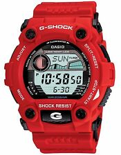 Casio G7900A-4 Men's Red Rescue Tide Graph Moon Data Alarm Chrono G Shock Watch