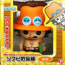 ONE PIECE Pansonwakusu Soft piggy bank Portgas D Ace Toy PVC Anime Janp Comic