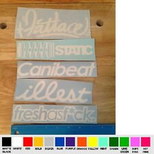 x5 pack Fatlace T Illest C Fresh as F*ck Canibeat Static VINYL STICKER DECAL jdm