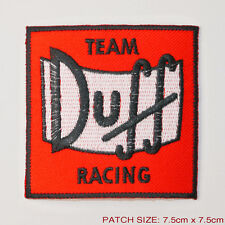 "THE SIMPSONS ""TEAM DUFF RACING"" Duff Beer Motorsport Embroiderd Patch"