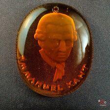 Winterhilfswerk 1933-1945 - Immanuel Kant - Glasanhänger ca 6g 35mm