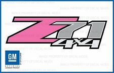 2 - Z71 4x4 Pink FP Chevy 07 - 13 Decal Sticker Parts Silverado GMC Sierra girl