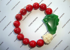 FENG SHUI - WEALTH, PROSPERITY & HAPPINESS BRACELET (12MM RED CORAL)