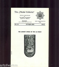 MEDAL COLLECTOR  Vol  14   #  10  1963    (  OMSA Journal )