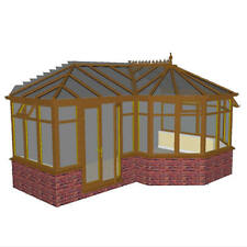 DIY LIGHT OAK  P-SHAPED  CONSERVATORY  6.0m x 4.0m NEW ***ALL SIZES AVAILABLE***