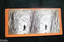 STB605 Suisse & Savoie Grotte de Glace Grindelwald Charnaux photo STEREO albumen