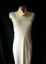 Roberto Collina Gorgeous 100% Merino Wool Cream Tunic Dress turtleneck