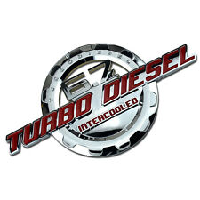 RED/CHROME 6.7 TURBO DIESEL MOTOR BADGE FOR TRUNK HOOD DOOR TAILGATE BED A