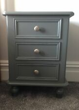 Painted 3 drawer Victorian style bedside cabinet