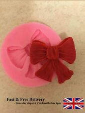 Cute Bow Ribbon flower Silicone Mould Fondant Icing Cake Cupcake Topper Mold Ice