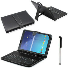 For Samsung Galaxy Tab E T560 9.6 Micro USB Keyboard L.eather Stand Case Cover