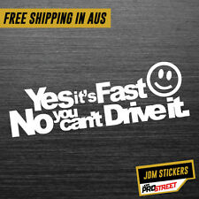THIS IS MY CAR NO YOU CAN'T DRIVE IT JDM CAR STICKER DECAL Drift Turbo Euro F...