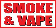 2'x4' Smoke & Vape Vinyl Banner Sign - ecig, shop, juice, cigarettes - White
