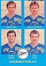 N°361 ANDRY # WOLFF #  CHARLEVILLE VIGNETTE PANINI FOOTBALL 96 STICKER 1996
