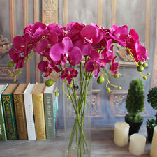 Bouquet Artificial Butterfly Orchid Phalaenopsis Silk Flower Home Wedding Decor