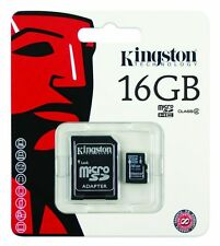NEW KINGSTON 16GB MICRO SD SDHC MEMORY CARD TF ADAPTOR CLASS 4 FOR MOBILE