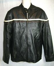 Echtes Leder AVIATRIX  Vtg  Leather  BLACK Jacket Coat  Women's size US/LG