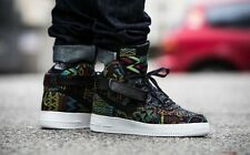 2016 Nike Air Force 1 High Retro BHM QS SZ 9.5 Multicolor Flyknit OG 836227-001