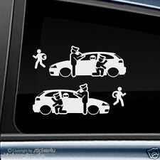 (1739) 2x Fun Sticker Aufkleber / Catch Real Criminals Seat Ibiza 6L Stickerbomb