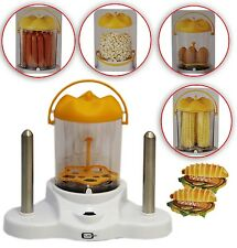 Hot Dog Steamer Eierkocher Popkorn Maker Dampgarer 380W 4in1  bis 6 Würstchen
