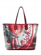 MOSCHINO Couture Jeremy Scott LEATHER Drink Moschino Coca Cola Shopper Bag XL