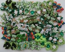 40 pcs St.Patrick �� Rubber band hair bows for dog cat grooming handmade