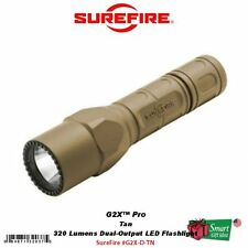 SureFire G2X Pro, Tan, 320 Lumens Dual-Output LED Flashlight, Nitrolon #G2X-D-TN