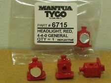 1 MANTUA AND TYCO # 6715 RED HEADLIGHTW/REFLECTIVE FRONT  FACTORY ORIGINAL PART