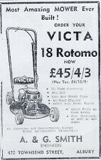 victa 18 rotomo  fan mower  advert 1955 ( reproduction)