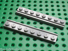 LEGO OldGray plate with door rail 4510 / set 7823 7838 7839 6542 4514 6339 7727