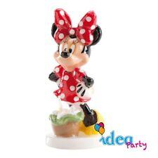 CANDELA MINNIE Disney, personaggio in cera, decorazione torta compleanno
