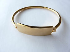 Marc By Marc Jacobs Standard Supply ID Plaque Bangle (Golden), NEW