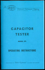*COPY* Jackson Capacitor Tester Model 591 Owner's Manual Operating Instructions