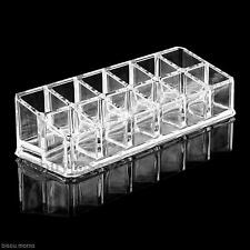 Professional DIY Eyeliner Mascara Lipstick 12Grids Storage Holder Organizer Box