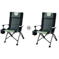 Camping Folding Chair 2 PC Outdoor Portable High Back Quad Chairs Picnic Sport