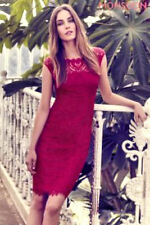 New MONSOON Liberty Red Lace Cocktail Fitted Pencil Shift Dress Size 18 BNWT