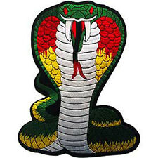 Novelty Embroidery Iron on Patch Animal Wildlife Large King Cobra Applique New
