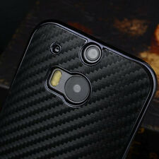 Luxury Carbon Fiber Back Chromed Hard Case Cover Skin For HTC One 2 M8