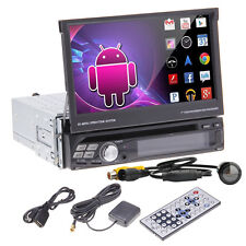 """Camera+3G Android 4.0 Single Din 7"""" GPS Car Stereo DVD Player BT Ipod Touch WIFI"""