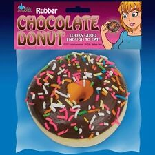 Fake Chocolate Rubber Donut Foam Prop Gag Gift Sprinkles Joke Prank Food Fun