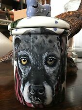 Custom Ceramic DOG TREAT Cookie Jar Wolfhound large canister Any Breed urn