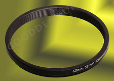 60mm to 57mm 60-57mm 60mm-57mm 60-57 Stepping Step Down Filter Ring Adapter