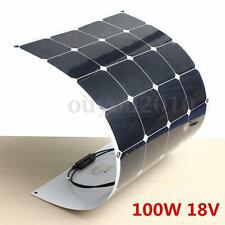 100W Watt 18V Semi Flexible Cell Solar Panel Battery For RV Boat Camping Home