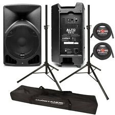 Alto TX10 Pair 280-Watt 10-Inch Portable Active DJ/PA Speakers + Stands & Cables