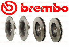 Honda Accord 06-12 Two Front + Two Rear Disc Brake Rotors Kit Brembo OEM
