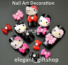 50pcs  DIY 3D Resin Bow Knot Nail Art Cell Phone Case Decoration #ED01