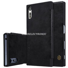 Black NILLKIN Qin Leather Wallet Card Case Flip Cover For Sony Xperia Z5 S002
