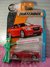 Matchbox '15 CHRYSLER 300 #4☆metallic Red; 10 spoke☆2016 Adventure City☆case J