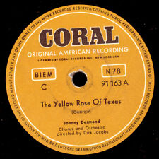 """JOHNNY DESMOND The Yellow Rose Of Texas  """"JUKEBOX-HIT""""/ Learnin' the Blues S9153"""