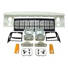 Jeep 1991-1996 Cherokee XJ Front Complete Header and Grille Replacement Kit